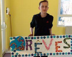 Admir a présenté son rêve aux bénévoles