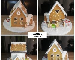 Concours « Maisons en pain d'épices » Création de Nathan, enfant rêveur de l'Hérault