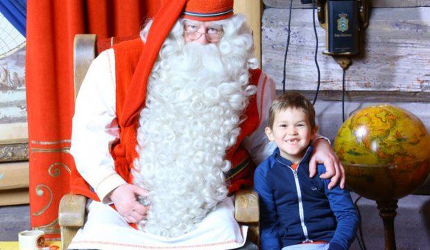 Charlie a rencontré le Père-Noël en Laponie