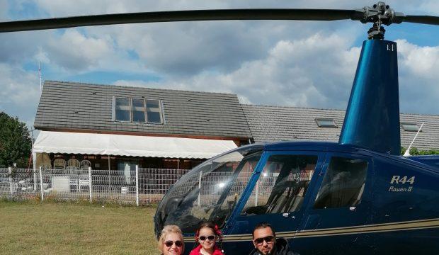 Sofia a fait un vol en hélicoptère