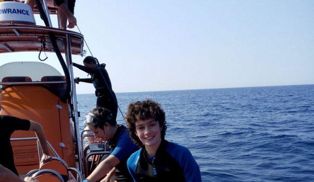 Anouk a nagé avec les dauphins en milieu naturel