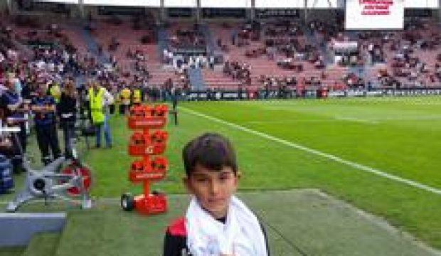 Alexis a assisté au match du stade Toulousain contre CA Brive et rencontré Maxime Médard