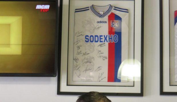 Maxime a rencontré les joueurs de l'Olympique Lyonnais