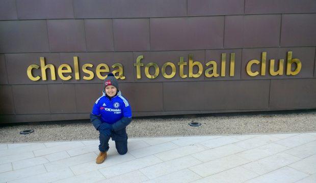Marouane et les joueurs de Chelsea