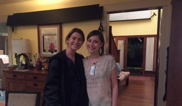 Marie a assisté au tournage de la série
