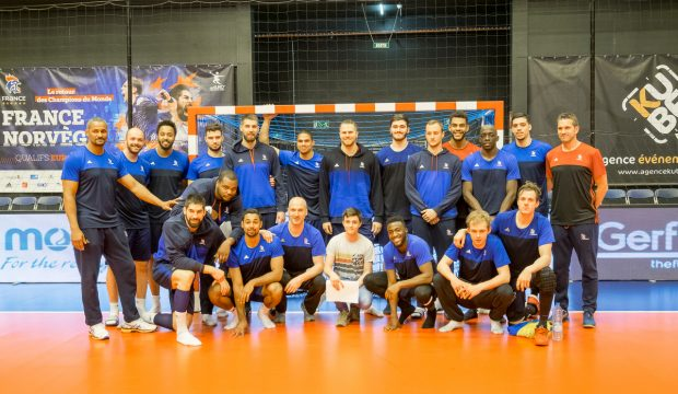 Guillaume a rencontré Luc Abalo et l'équipe de France de Handball
