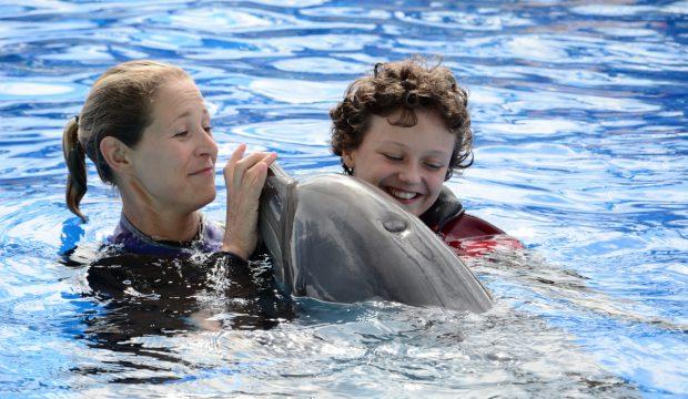 Anaïs a approché les dauphins