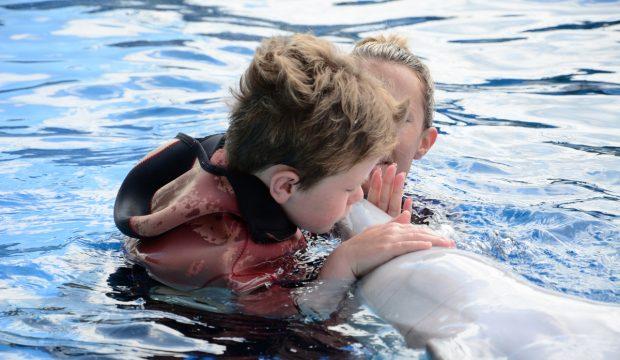Pablo a approché les dauphins