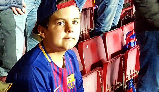 Enzo a assisté à un match du FC Barcelone