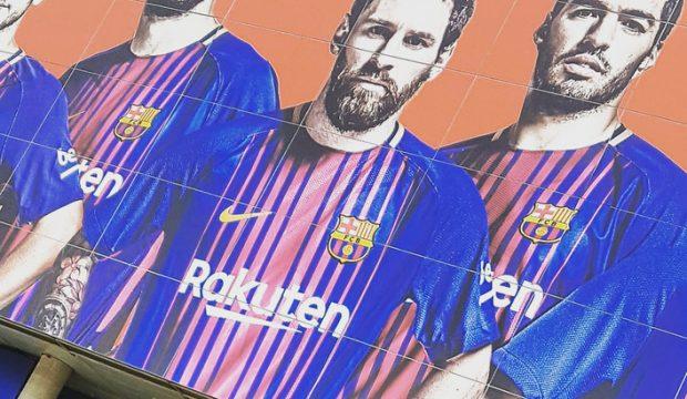 Loic a assisté à un match du FC Barcelone