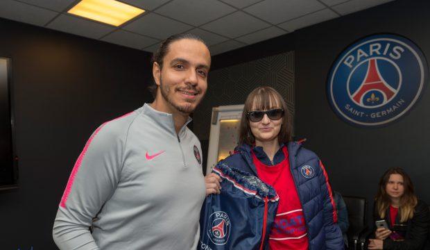 Margot a rencontré les joueurs du PSG et elle a assité à un match