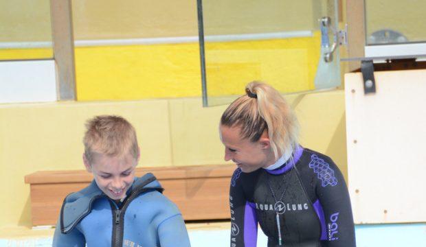 Vincent a approché les dauphins