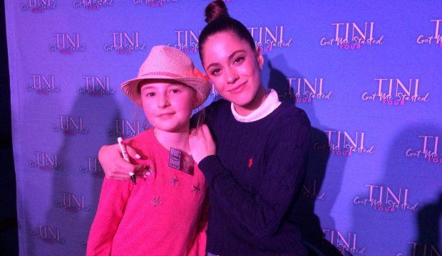 Camille a rencontré la chanteuse Tini (Violetta) et a assisté à son concert