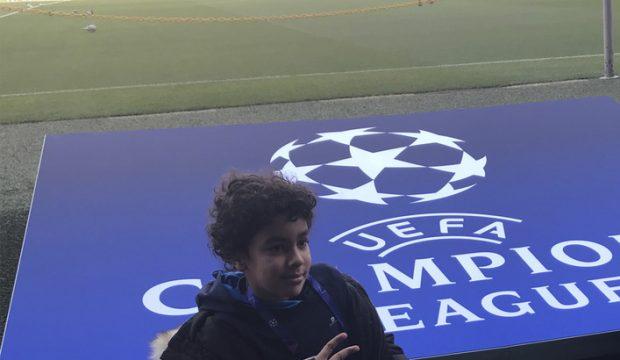Mohamed a assisté au match FC Barcelone /Tottenham