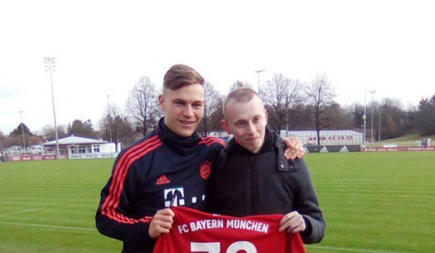 Léandre a rencontré les joueurs du Bayern de Munich et il a assisté à un match
