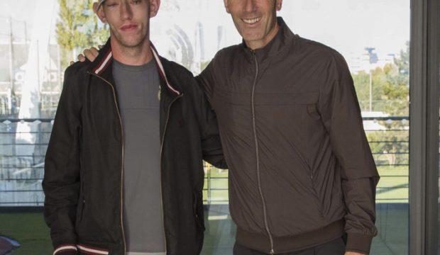William a rencontré les joueurs du Real de Madrid