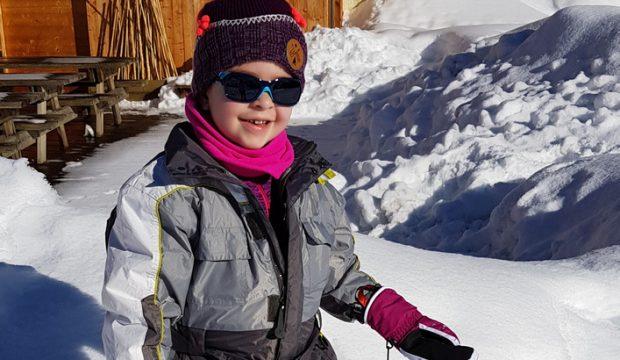 Garance a fait un séjour à la montagne en famille