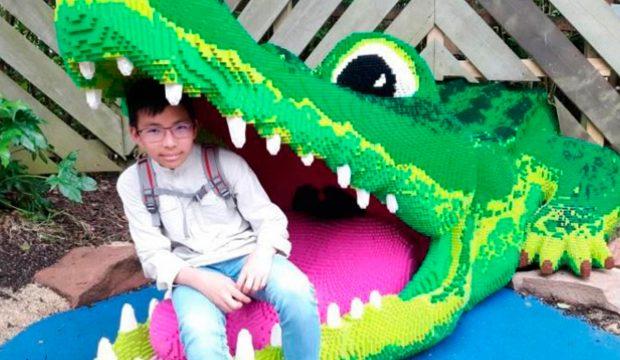 Raphaël a découvert le parc Legoland Angleterre