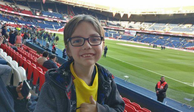Martin a assisté à un match du PSG en famille