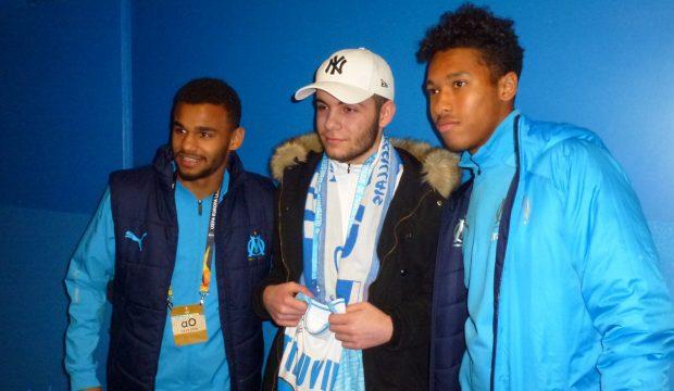 Jimmy a rencontré les joueurs de l'OM et a assisté à un match