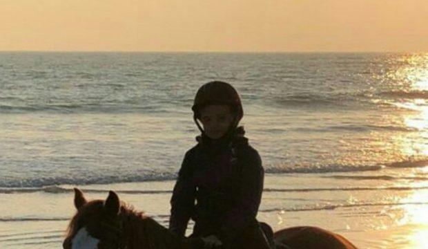 Luis à cheval à l'île de Ré