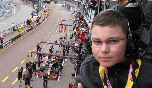 Mattéo  a assisté au grand Prix de F1 de Monaco