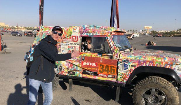 Mathieu a assisté au Dakar