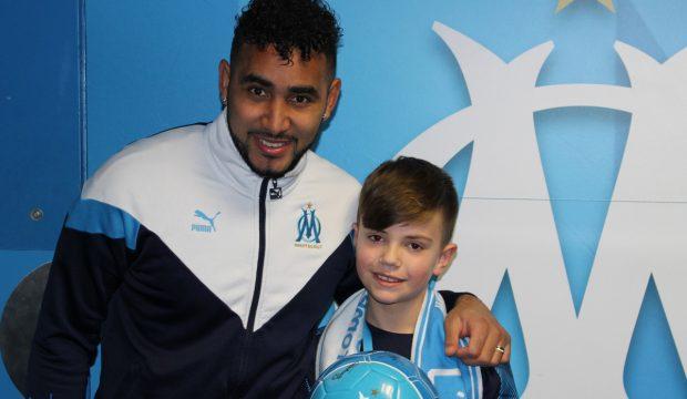 Alexis a rencontré les joueurs de l'OM