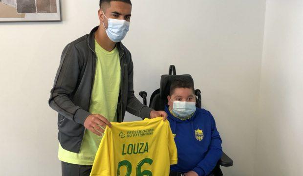 Arthur  a rencontré le joueur de foot Imran Louza