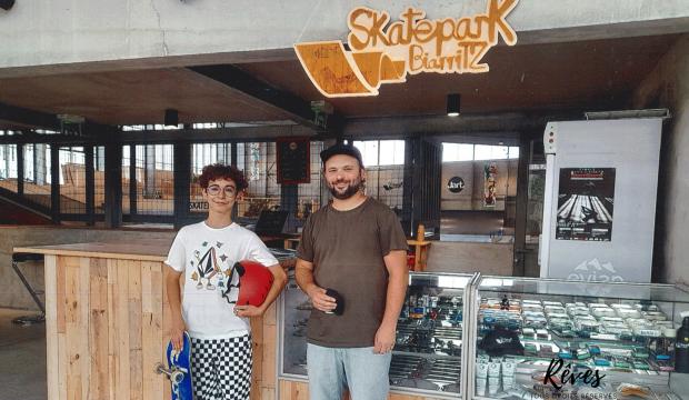 Medhi a fait un séjour à Biarritz et a profité du skatepark